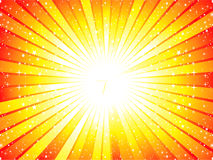 Abstract yellow sunbeam background Royalty Free Stock Image