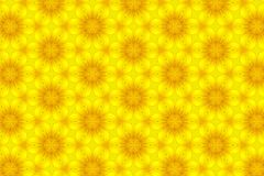 Abstract yellow sunflower pattern background.  Royalty Free Stock Photo