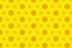 Abstract yellow sunflower pattern background.  Royalty Free Stock Photos