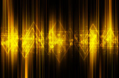 Abstract yellow tech background Royalty Free Stock Images