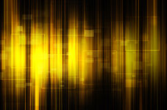 Abstract yellow tech background Stock Image