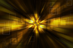 Abstract yellow tech background Stock Photography