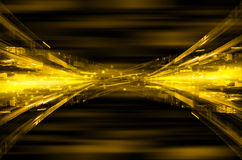 Abstract yellow tech background. Royalty Free Stock Image