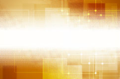 Abstract yellow tech background. Royalty Free Stock Photo