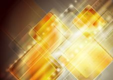 Abstract yellow technology design Royalty Free Stock Images