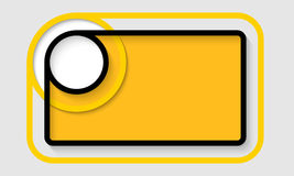 Abstract yellow text frame stock illustration