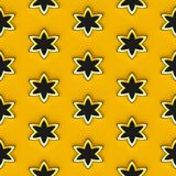 Abstract yellow texture with blooms. Abstract yellow texture or pattern with blooms or stars. Useful for website design, mobile application & internet stock illustration