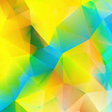 Abstract yellow triangle shapes. + EPS10 Royalty Free Stock Images
