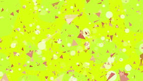 Abstract yellow triangles background stock footage