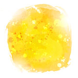 Abstract yellow watercolor  hand paint on white background Royalty Free Stock Photography