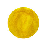 Abstract yellow watercolor painted circle Royalty Free Stock Image