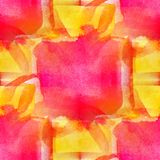 Abstract yellow, watercolor seamless texture Royalty Free Stock Photos