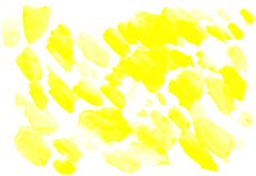 Abstract yellow watercolor splash background. art by painted image. Abstract yellow watercolor splash background royalty free stock image