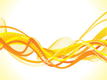 Abstract yellow wave background Stock Photography