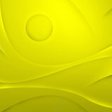 Abstract yellow waves Royalty Free Stock Photography