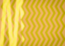 Abstract Yellow Zigzag pattern. Stock Photography