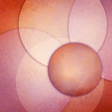 Abstract yellowed pink orange design of layers of round transparent circle composition Royalty Free Stock Photos