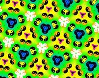 Abstract yin yang faces pattern illustration Stock Photos