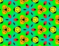 Abstract yin yang faces pattern illustration. Green and yellow. Red and blue. Orange and white. Seamless yin yang faces background pattern. Illustration Stock Photography