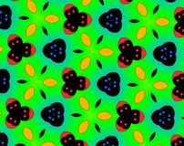 Abstract yin yang faces pattern illustration. Green and yellow. Red and blue. Orange and white. Seamless yin yang faces background pattern. Illustration Royalty Free Stock Photos