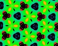 Abstract yin yang faces pattern illustration Royalty Free Stock Photos