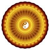 Abstract yin yang logo mandala zen kaleidoscope Stock Illustration