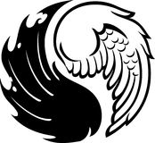 Abstract Yin Yang wings Stock Photography