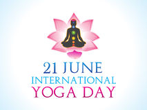 Abstract yoga day background Stock Image