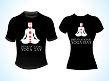 Abstract yoga day tshirt Royalty Free Stock Photos
