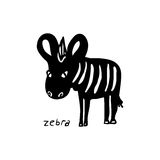 Abstract Zebra silhouette Royalty Free Stock Image