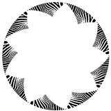 Abstract zebra vector frame. Abstract black and white zebra vector circumar frame Stock Images