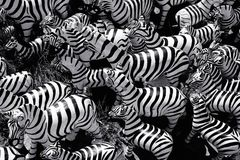 Abstract of zebras statue in various sizes Stock Photography