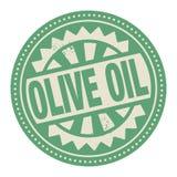 Abstract zegel of etiket met de tekst binnen geschreven Olive Oil Stock Foto
