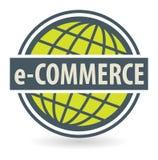 Abstract zegel of etiket met de tekstelektronische handel Stock Foto
