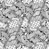 Abstract zen art doodle native seamless pattern. Stock Image