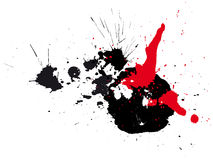 Abstract zen ink painting graphic Stock Photos