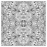 Abstract zentangle coloring page Stock Image