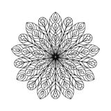 Abstract zentangle coloring page Royalty Free Stock Photos
