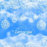 Abstract zentangle hand drawn background Royalty Free Stock Images