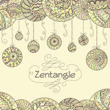Abstract zentangle hand drawn background Stock Photo