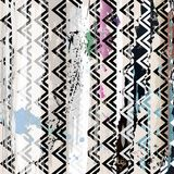 Abstract zig zag composition, Stock Photo