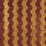 Abstract zig zag pattern - seamless background - wooden texture Royalty Free Stock Images