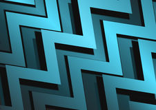 Abstract zigzag blue metal surface background Stock Images