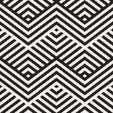 Abstract ZigZag Parallel Stripes. Stylish Ethnic Ornament. Vector Seamless Pattern. Royalty Free Stock Photos