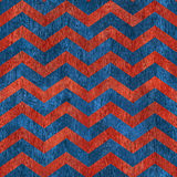 Abstract zigzag pattern - seamless pattern - red-blue color - wo Royalty Free Stock Photography