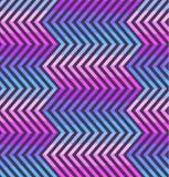 Abstract zigzagpatroon in roze en violette kleuren Stock Fotografie