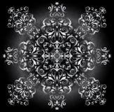 Abstract zilveren ornament Royalty-vrije Stock Foto