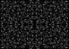 Abstract zilveren ornament op zwarte achtergrond vector illustratie
