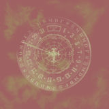 Abstract zodiac calendar. Royalty Free Stock Photos