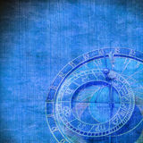 Abstract zodiac clock Royalty Free Stock Image